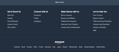 amazon.com footer page