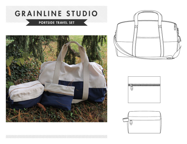 352aa15633bf The pattern is the duffel bag from Grainline Studio s Portside Travel Set