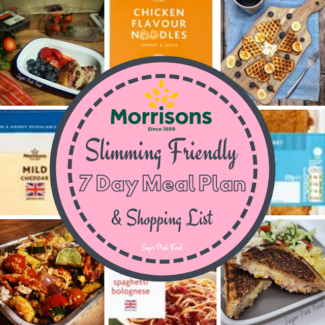 Slimming World meal plan 7 day with shopping list morrisons
