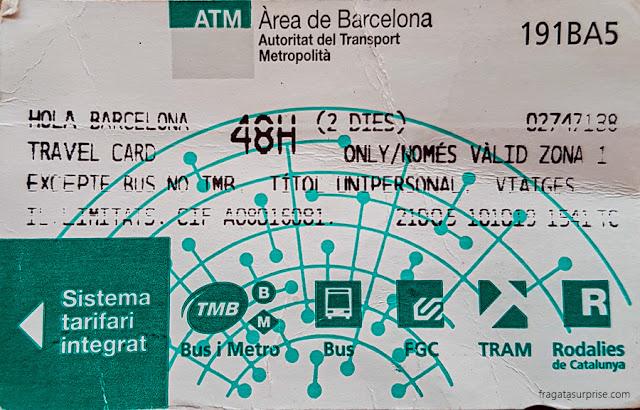 Passe de transporte público Hola Barcelona
