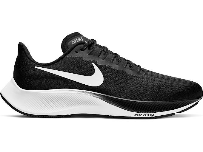 Nike Men's Air Zoom Pegasus 37 Running Shoes - Black White