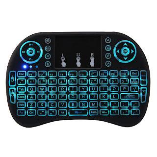 mini tastiera android rgb colore led wireless