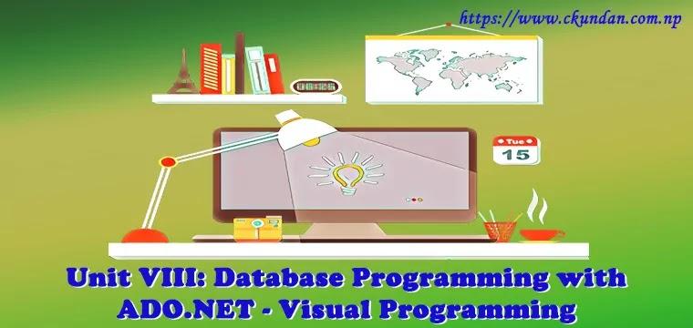 Database Programming with ADO.NET – Visual Programming
