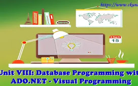 Unit VIII: Database Programming with ADO.NET – Visual Programming