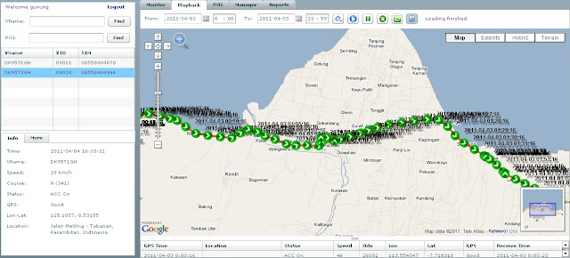 logger gps tracking, playback gps tracking