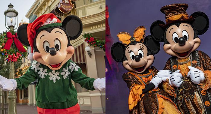 Halloween y Navidad en Disney