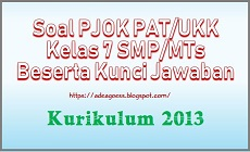 Download Soal PAT/UKK PJOK Kelas 7 SMP/MTs K-13 Beserta Kunci Jawaban