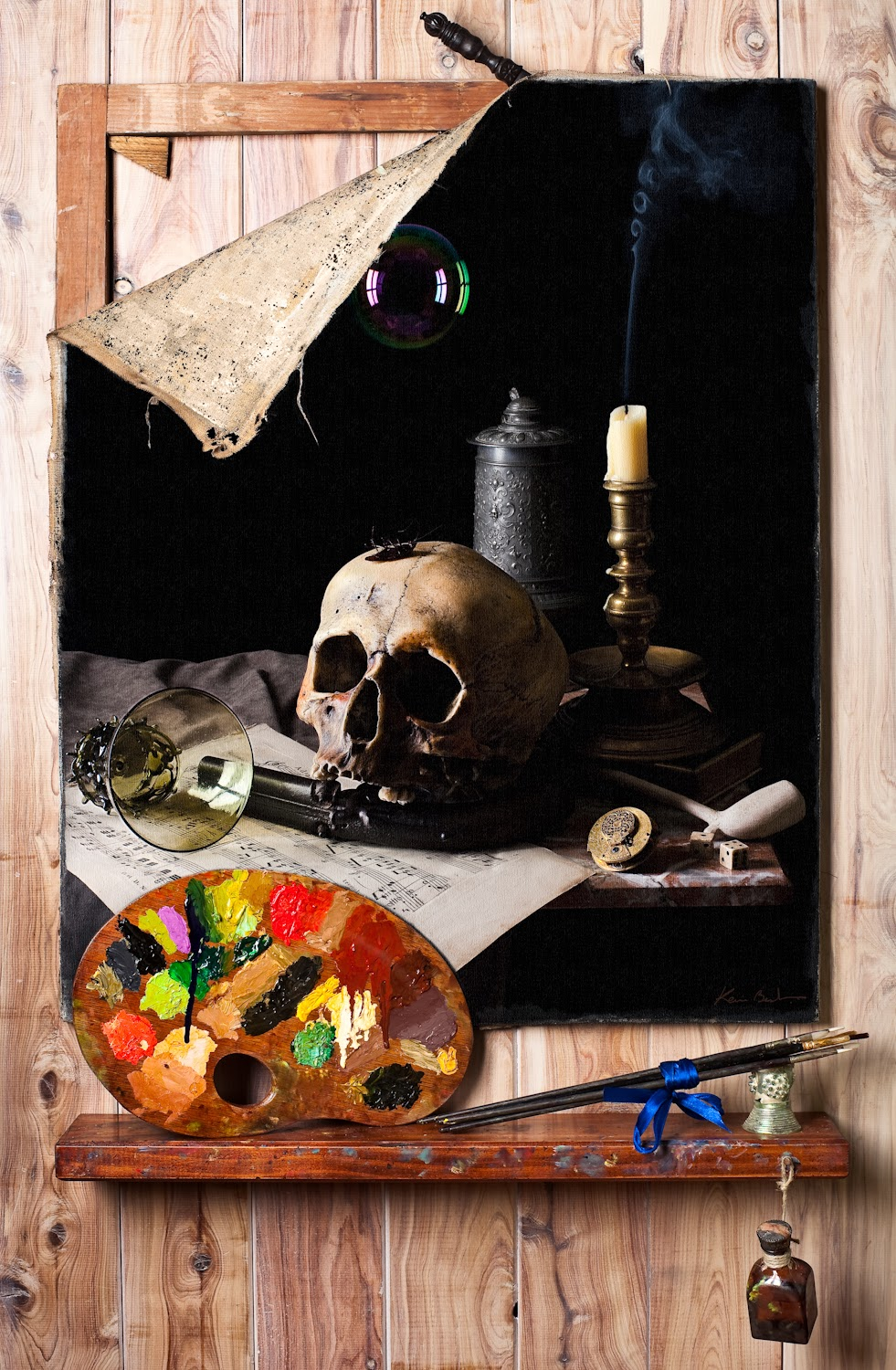 Vanitas Still Life in the style of Cornelius Gijsbrechts