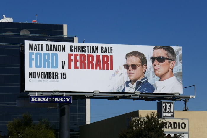 Ford v Ferrari movie billboard