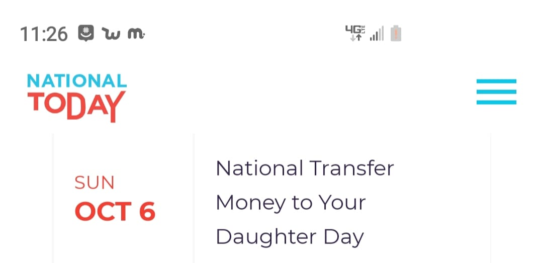 National Transfer Money to Your Daughter Day Wishes Images