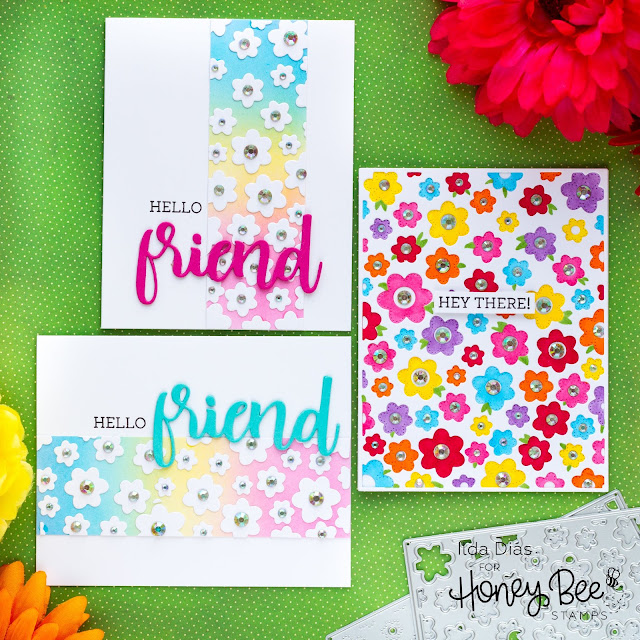 Colorful Friendship Hello Floral Cards | Day 5 Sneak Peek Honey Bee Stamps 5th Anniversary Release