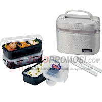 Lock & Lock Lunch Box Set 2P Dark Gray HPL752DG