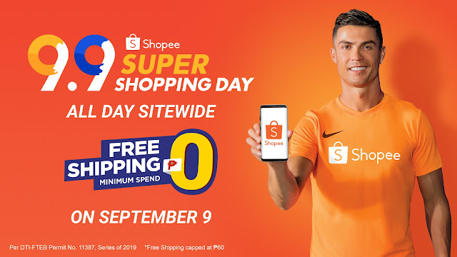 Shopee Offers Sitewide Free Shipping ₱0 Minimum Spend for 9.9 Super Shopping Day