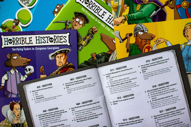 The Horrible Histories board game question booklets