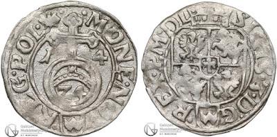 Kraków półtorak 1614 z dwoma herbami Wadwicz