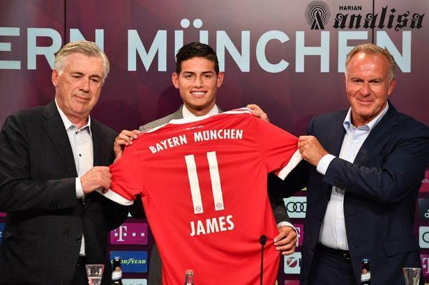 Hijrah Ke Bayern, Rodriguez Reuni Dengan Xabi Alonso dan Carlo Ancelotti