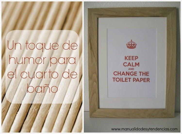cuadro Keep calm para el cuarto de baño