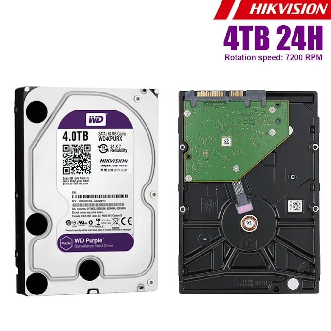 Hard disk hikvision WD Purple(24H) 4TB