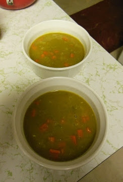 Curried Pea Soup, a nice change of flavor!