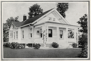 black and white drawing of the sears winona in the 1932 sears modern homes catalog