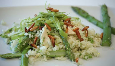 Put the chicken stock and fillets in a large saucepan Poached Chicken & Rice Salad Recipe