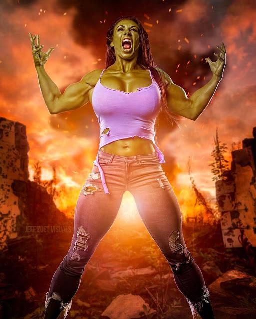 Ginger Kutschbach as She-Hulk