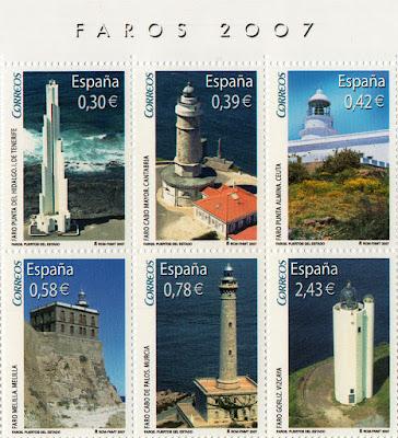 Sellos de la Hoja Bloque de Faros 2007