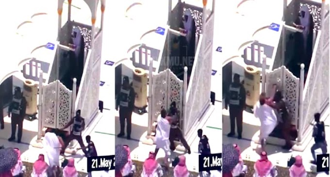 (Video) - Seorang lelaki  mengaku imam mahdi, menyerang imam Masjidil Haram