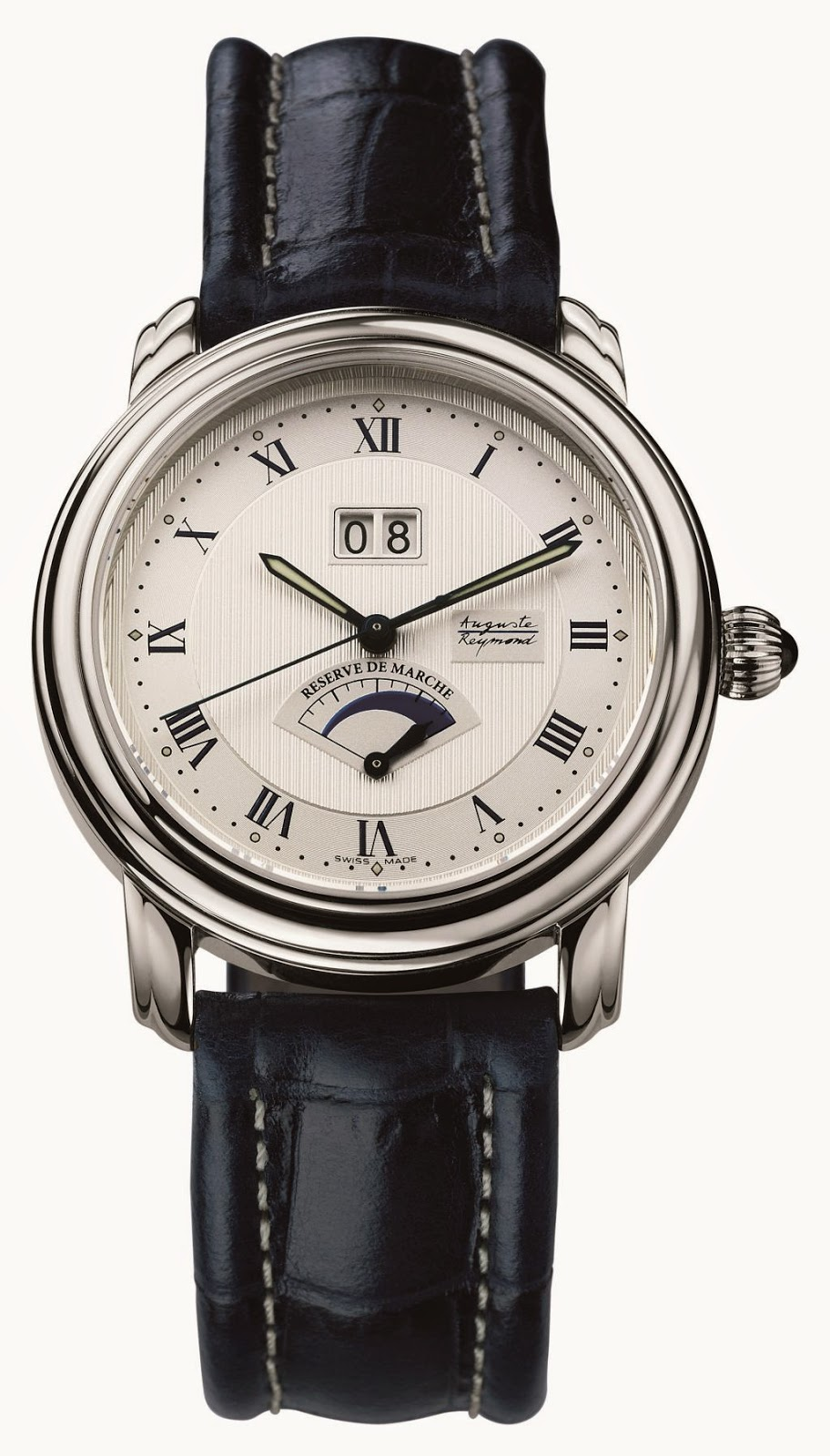 Auguste Reymond Cotton Club Big Date Automatic watch with power reserve