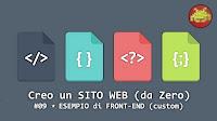 Creo un SITO WEB (da Zero) #09 ⋆ ESEMPIO di FRONT-END (custom)