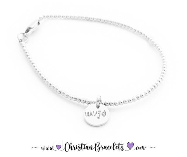 Sterling Silver WWJD Charm Bracelet