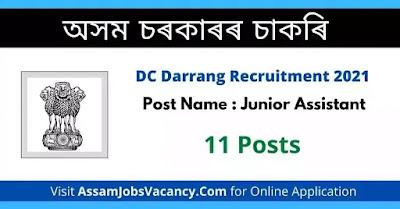DC Darrang Recruitment 2021