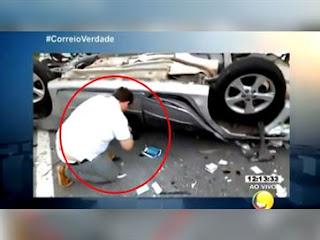Empresário se apresenta após ser gravado com carteira de vítima de acidente em JP