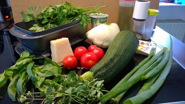 Zutaten für den rumfort-Gemüse-Nudelauflauf (c) by Joachim Wenk