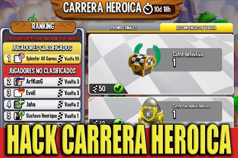 HACK CARREA HEROICA - SEGUNDA OPCION