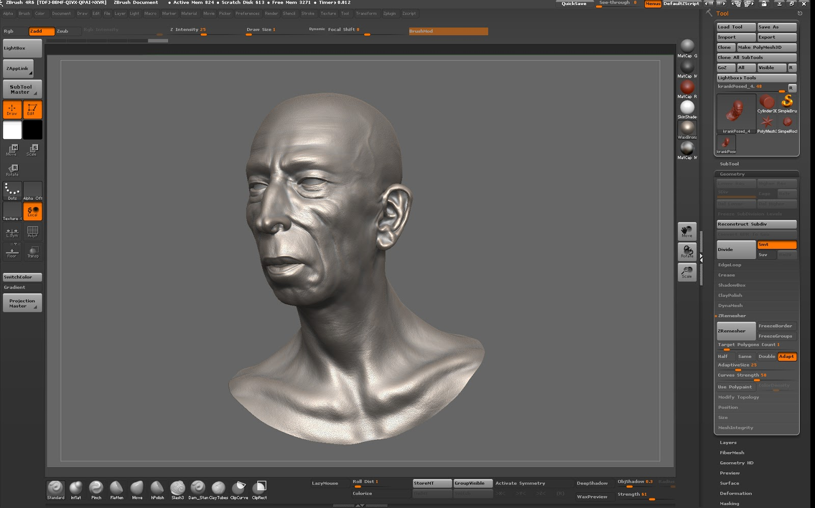 polysculpture com: Automatic Topology: Mudbox vs  ZBrush!