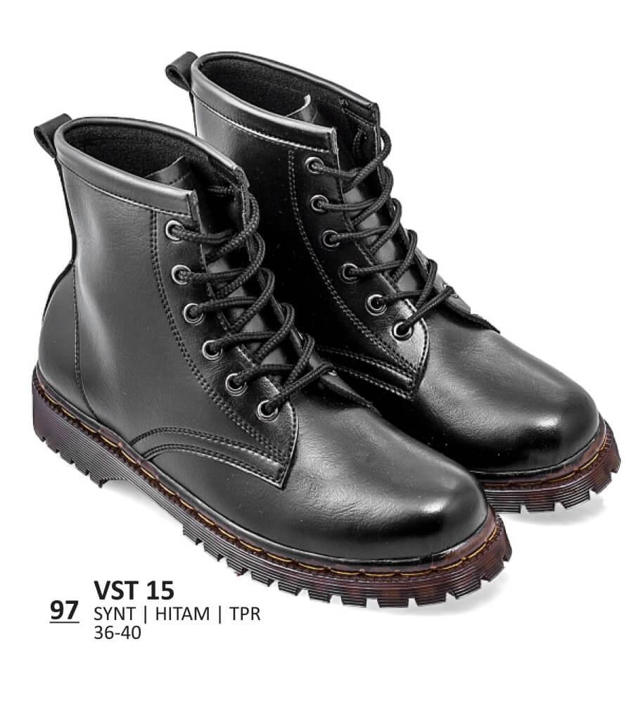 Sepatu Boot   Lifestyle   Kasual Wanita - VST 15 HITAM - Rp.174.240 ddd69cb555