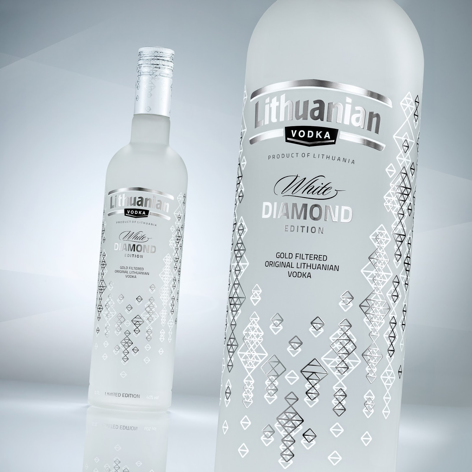 Lithuanian Vodka Gold. Diamond Edition On Packaging Of The