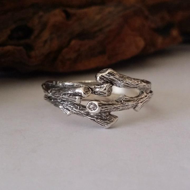 Dawn Vertrees Raw Uncut Rough Engagement Wedding Rings Mens Branch