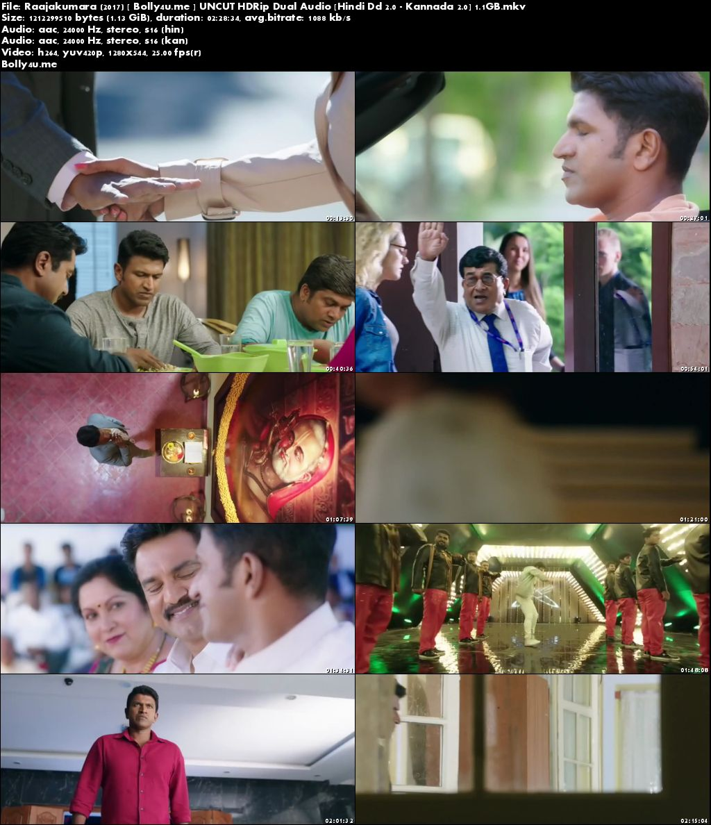 Raajakumara 2017 HDRip UNCUT Hindi Dubbed Dual Audio 720p Download