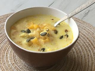 Zupa z kalafiora i dyni