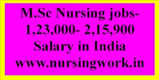 M.Sc Nursing jobs- 1,23,000- 2,15,900 Salary in India