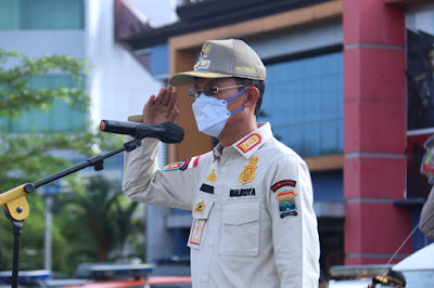 Pemkot Palembang Siagakan Pol PP Cegah Kerumunan