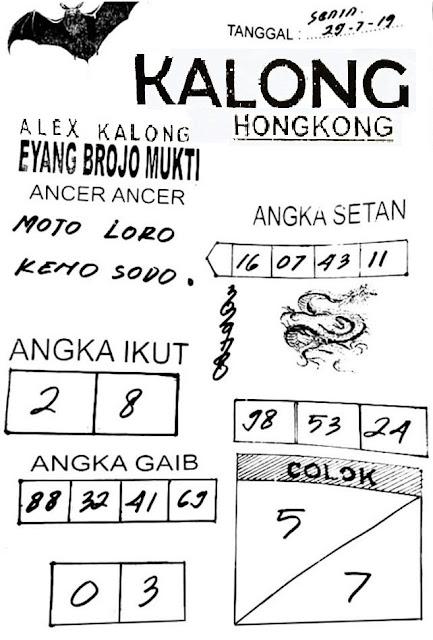 SYAIR TOGEL HONGKONG SENIN 29 JULI 2019 - GUDANG SYAIR