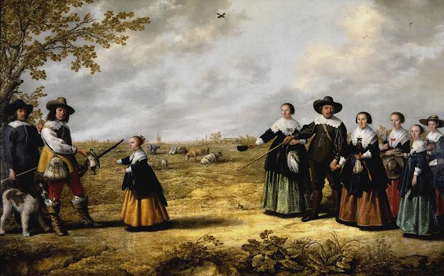 Альберт Кёйп - Семейный портрет в пейзаже (совместно с Якобом Кейпом). 1641