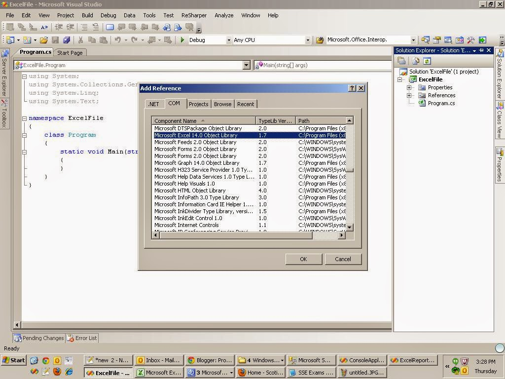 Open An Excel File Using C Auk S Technical Journey