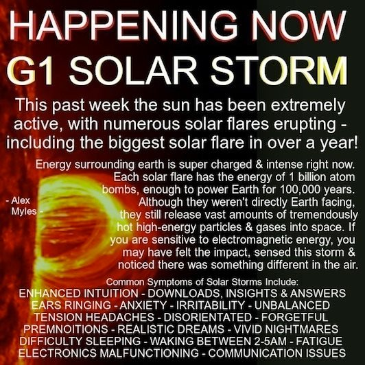 Beyond the Veil: Solar Storm - I hope everybody is Ok now - Take