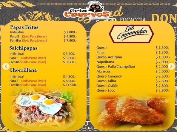Cría Cuervos Restaurant - Carta