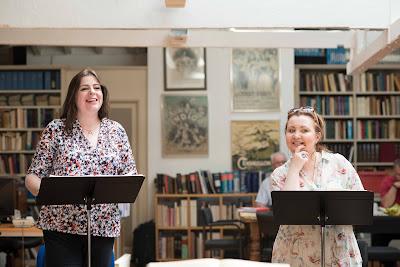 Daniela Barcellona & Albina Shagimuratova rehearsing at Opera Rara's studio (photo Russell Duncan)
