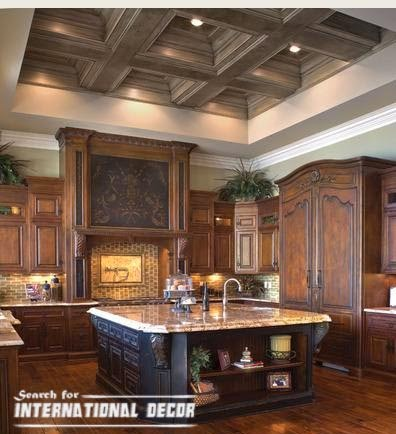 Coffered ceiling for kitchen